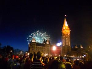 Feux d'artifices de la fête du Canada
